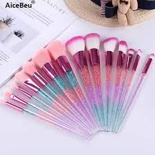 AiceBeu 7pcs Diamond Makeup Brushes sets with Bag <b>Crystal</b> ...