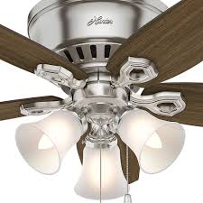 42 inch hunter fan builder low profile ceiling fan with light brushed nickel finish alt3