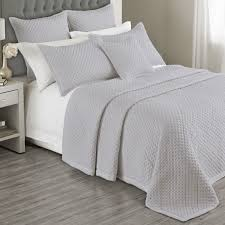 Charroux Quilted Bedspread in White, Grey or Ivory – Bed and Bath ... & Charroux Quilted Bedspread in White, Grey or Ivory Adamdwight.com
