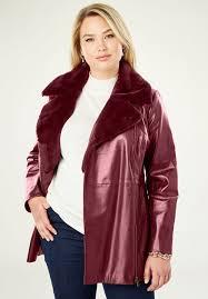 faux sherpa leather jacket