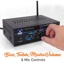<b>Wireless</b> Bluetooth <b>Power Amplifier</b> System - 2X40W Mini: Amazon ...