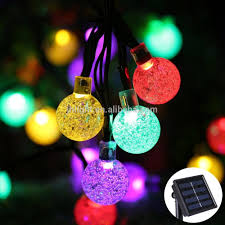 String Light Outdoor Christmas Tree Solar String Lights Outdoor Globe Lights By Icicle 20ft 30 Led 8 Modes Fairy Orb Crystal Ball Lighting For Christmas Trees Buy Factory Wholesale Led