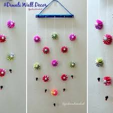 wall decoration idea how to make easy paper hanging for with hangings step by photo quilt