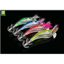 <b>4Pcs Lots</b> Shrimp Flashing LED Squid Fishing Lure Prawn Tackle ...