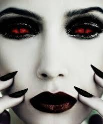 diy vire makeup ideas makeup red contact lenses