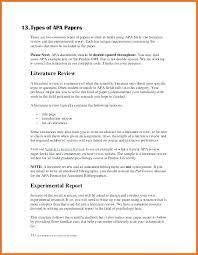 Literature Review In Apa Apa Research Paper Format Literature Review Literature