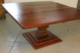 rustic square dining table. 62in square dining table with venetian pedestal rustic
