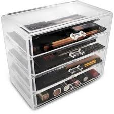 makeup organizer drawers walmart. acrylic drawer makeup organizer with 4 removable drawers walmart a