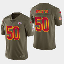 Travis Jersey Limited Salute Chiefs Men's - Olive Kelce Service To