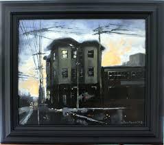 oil on canvas northside a m steve harrold river city