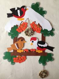 Fensterbildwandbildtonkarton Vogelhauswinter Weihnachten
