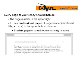 If you need to shorten your title for your running. Apa Formatting And Style Guide Purdue Owl Staff