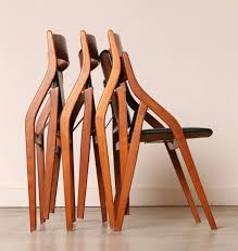 awesome collapsible dining chairs set of four dyrlund danish modern teak folding dining chairs 3