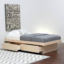 twin platform bed. Twin Platform Bed With 2 Drawers On Tracks (Shown In Birch) T