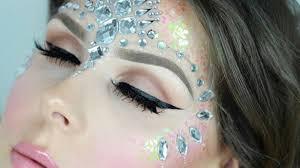 glitter face jewels festival makeup tutorial alice jackson