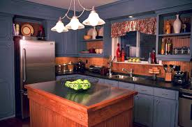 Small Kitchen Black Cabinets Good Looking Small Kitchen Ideas Displaying L Shaped Blue Painted