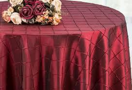 120 round pintuck taffeta tablecloth burdy 60910 1pc pk