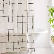 cool fabric shower curtains. Urban Outfitters Wonky Grid Shower Curtain Cool Fabric Curtains