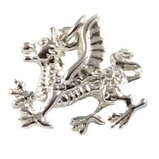 welsh dragon 3d sterling silver charms wales