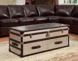 Image of: Recommendations On The Selection Of Antique Trunk Coffee Table  Inside Coffee Table With