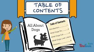 Informational Writing for Kids Episode 7 Making a Table of