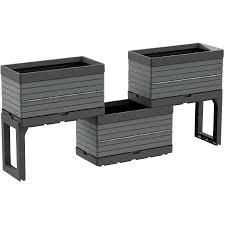 Garant <b>5 Piece</b> Grey <b>Modular</b> Garden Planter Kit | <b>Home</b> Hardware