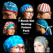 Scrub Cap Pattern Stunning Scrub Hat Sewing Patterns Craftsy