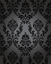 Stock vector of 'pattern, gothic, floral, backgrounds, seamless, black,