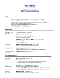 resume examples work experience sample resume for fresh graduate resume examples work experience starbucks barista job description resume xpertresumes barista resume sample skills and work