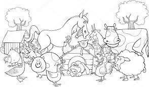 Illustrazione Animali Della Fattoria Da Stampare Animali Della