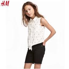 Thời trang bé gái 6-10 tuổi : (H&M) Áo sát nách chất siêu mềm đẹp màu trắng  kem