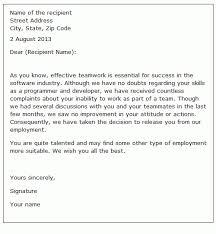 Sample Dismissal Letter 7 Dismissal Letters Instinctual Intelligence