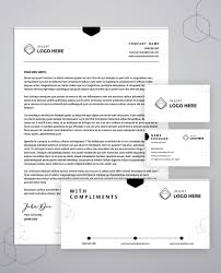Letterhead Stationary Business Stationery Brand Identity Bundle 5 Templates