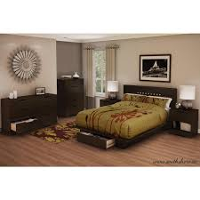 South Shore Holland Full Queen Size Headboard in Chocolate
