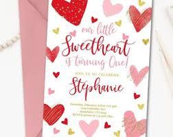 Valentines Invitations Valentine Invitation Etsy