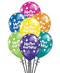 Qualatex Happy Birthday Polka Dots Circles Fantasy Assortment Biodegradable Latex Balloons 11 Inch 25 Units