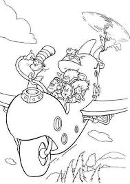 Small Picture Dr Seuss The Cat in the Hat Flying with Wierd Airplane Coloring