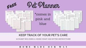 Pet Planner Printables Free Get Your Pets Records Organized