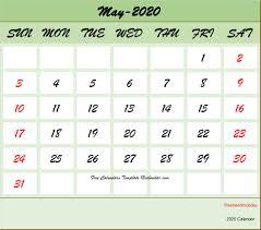 Calendar May 2020 May 2020 Calendar Printable With Holidays United States