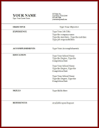 How To Write A Resume Template For The First Time Cv Resume