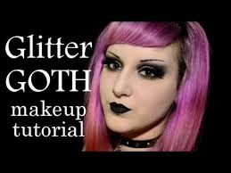 glitter goth makeup tutorial