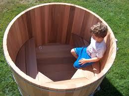 4ft dia bench detail round soaker tub