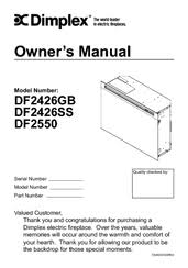 Dimplex DF2550 Manuals