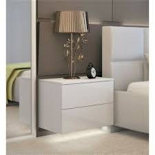 wall mounted white bedside table