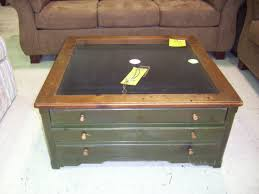 coffee table with glass top storage