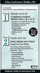 Medicaid Eligibility Income Chart Ohio 2017 Seminar Detail