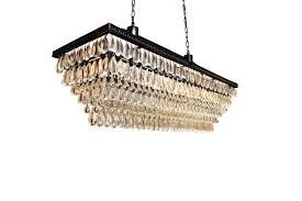 luxury rectangular glass drop chandelier 16 lumh 607db