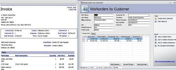 service work orders template access templates work orders invoice services management database