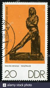 GERMANY - CIRCA 1976: Small sculptures. Dancer at rest, by Walter Arnold,  circa 1976 Stock Photo - Alamy