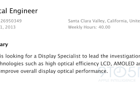 Apple Job Listing Confirms Apple Is Investigating Using Flexible